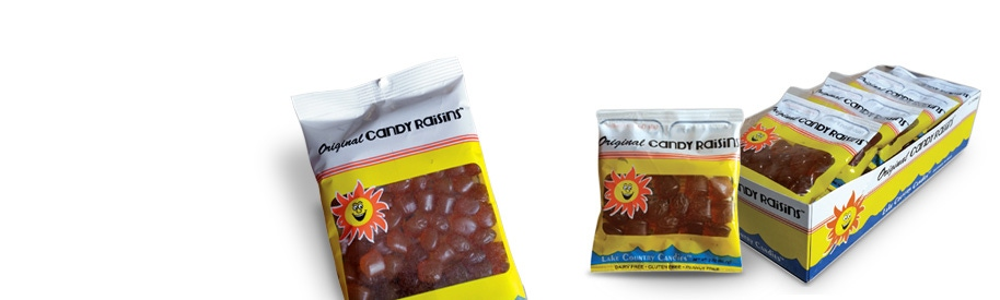 Candy Raisins bag sizes